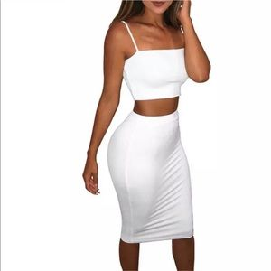 Dresses & Skirts - White 2pc Bodycon Set